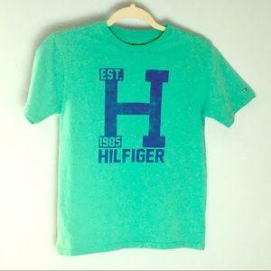 Tommy Hilfiger Aqua turquoise blue T-shirt kids